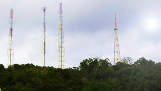 Menara BTS Telkomsel.