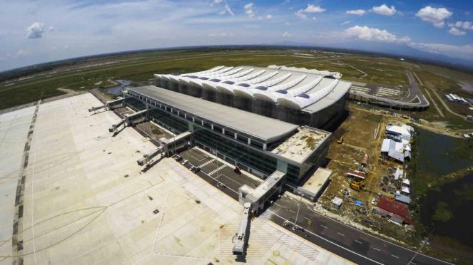 Proyek pembangunan Bandara Internasional Jawa Barat (BIJB) di Kertajati, Majalengka, Jawa Barat