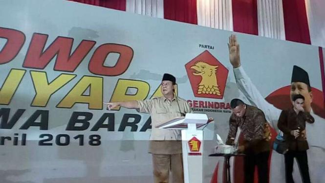 Ketua Umum Gerindra Prabowo Subianto