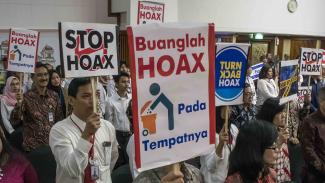 Deklarasi tolak hoax di Bale Pasundan Museum Bank Indonesia Jawa Barat.