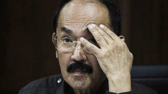 Terdakwa kasus merintangi penyidikan kasus korupsi KTP elektronik Fredrich Yunadi