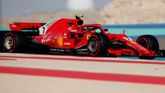 Pembalap Ferrari, Kimi Raikkonen.