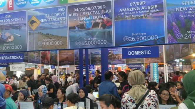 Antrean Garuda Indonesia Travel Fair 2018
