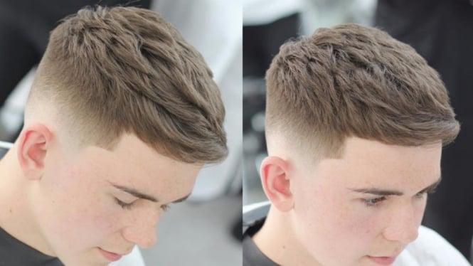 Potongan rambut French Crop. Photo   YouTube 3b93e51030