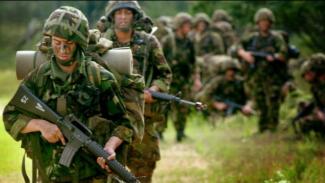 Ilustrasi tentara Inggris.