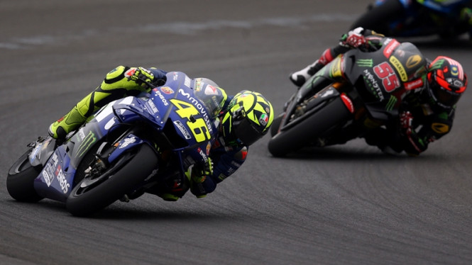 Pembalap asal Yamaha, Valentino Rossi.