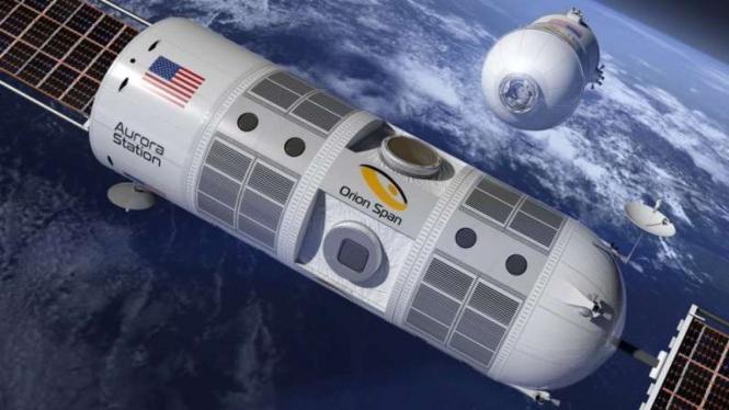 Ilustrasi aktifitas di luar angkasa.