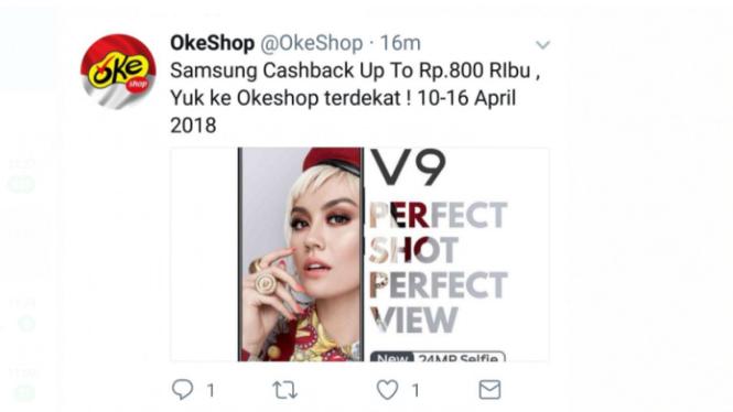 Iklan Samsung malah tampilkan Vivo