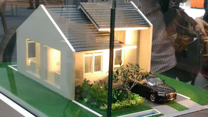 Contoh rumah Rp130 juta yang dijual Ciputra Group di Maja, Banten.