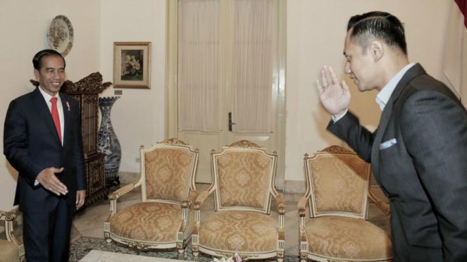 AHY temui Jokowi di Istana Negara, beberapa waktu lalu.