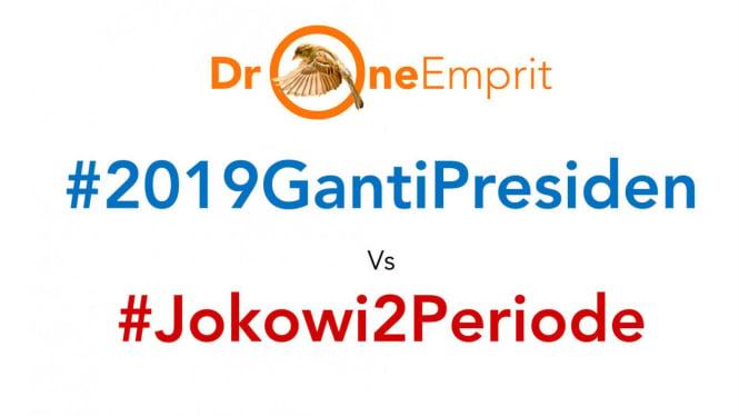 Perang hashtag #2019GantiPresiden vs #Jokowi2Periode