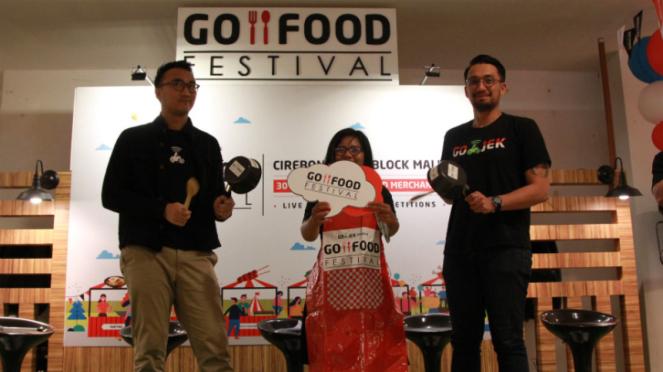 GO-FOOD Festival di Cirebon, Jawa Barat.