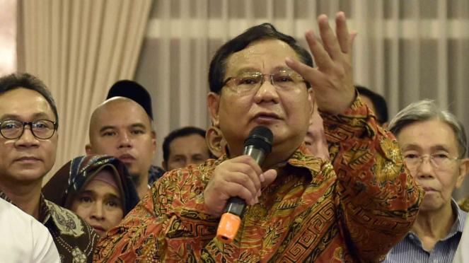 Ketua Umum Partai Gerindra, Prabowo Subianto