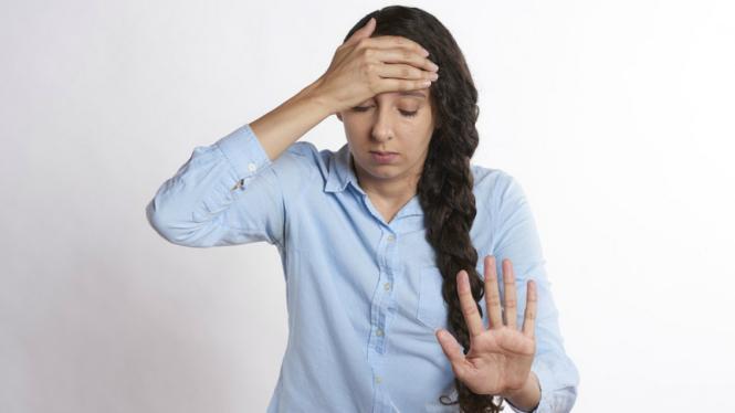 Ilustrasi stres/panik.