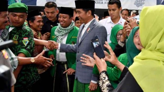 Presiden Jokowi dan Ketua Umum PPP Mohammad Romahurmuziy.