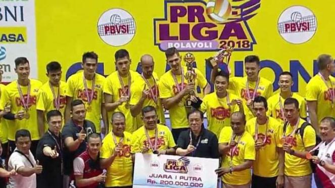 Surabaya Bhayangkara Samator juara Proliga 2018