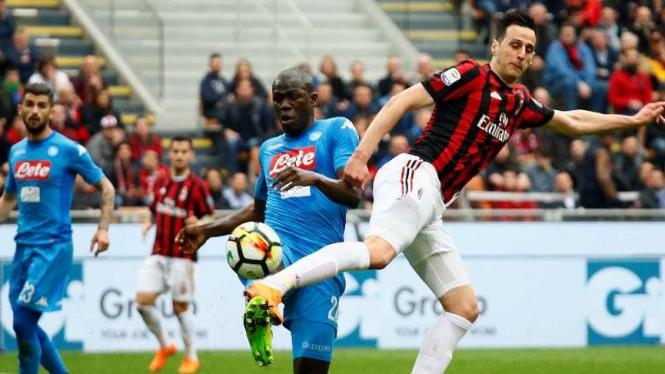 Pertandingan AC Milan kontra Napoli di ajang Serie A