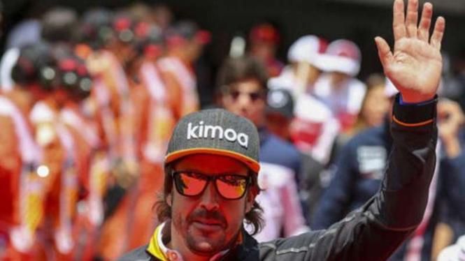 Pembalap McLaren Formula 1, Fernando Alonso.