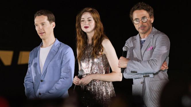 Benedict Cumberbatch, Karen Gillan, Robert Downey Jr.
