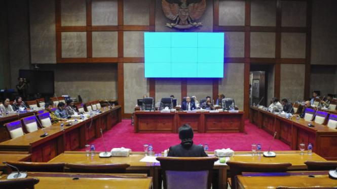 Ilustrasi Rapat Komisi XI DPR RI.