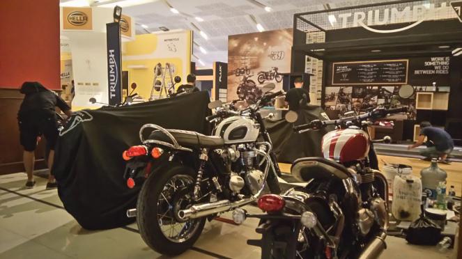 Stan motor Triumph di IIMS 2018