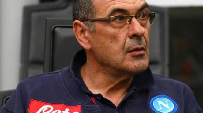 Pelatih Napoli, Maurizio Sarri.