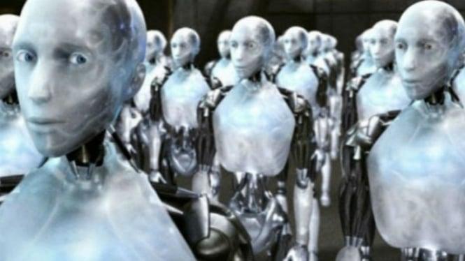 Ilustrasi robot masa depan.