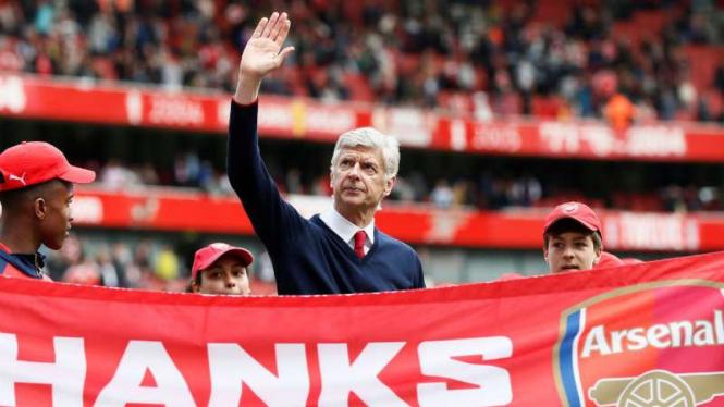 Manajer Arsenal, Arsene Wenger.