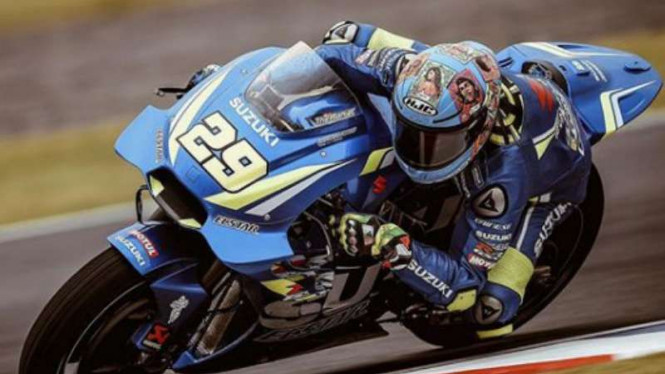 Pembalap Suzuki Ecstar, Andrea Iannone.