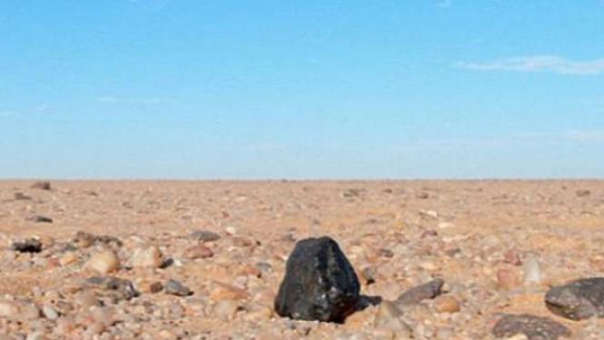 Ilustrasi meteorit.