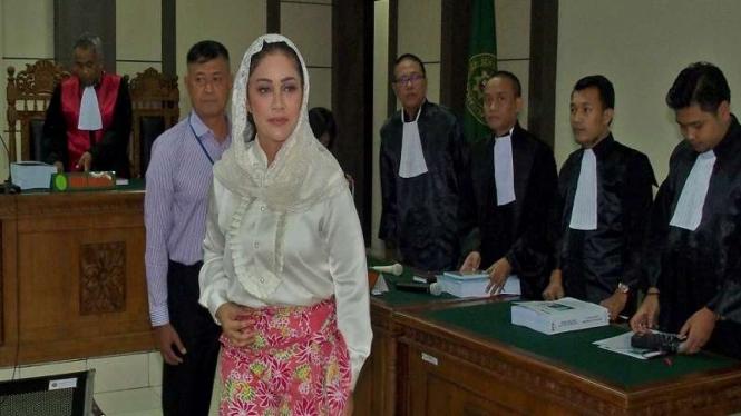 Wali Kota Nonaktif Tegal Siti Masitha menjalani persidangan di Semarang