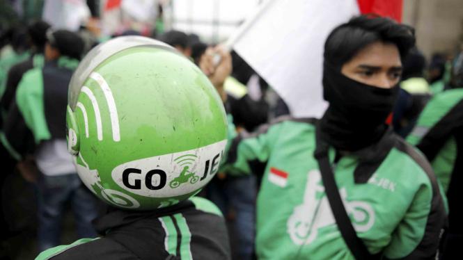 Aksi unjuk rasa ojek online