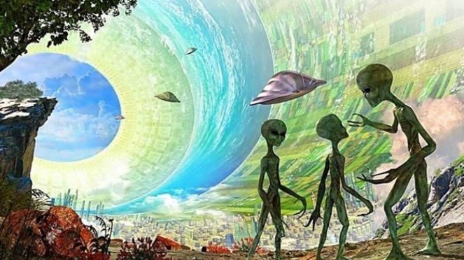 Ilustrasi alien.