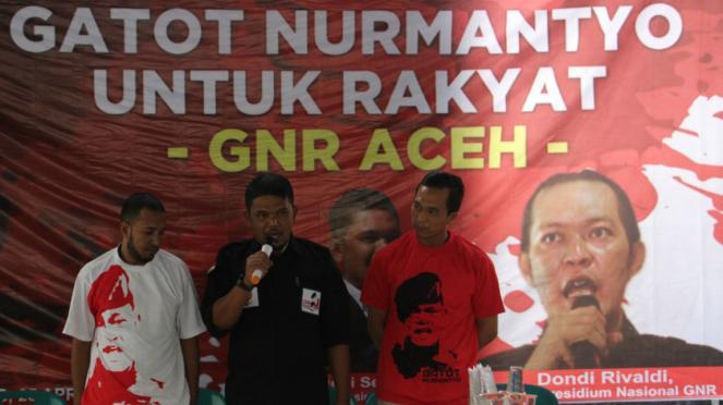 Relawan Gatot Nurmantyo di Aceh deklarasi.