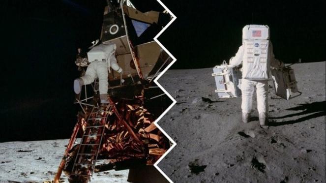 Misi pendaratan di Bulan.
