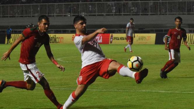 Timnas Indonesia U-23 saat menghadapi Bahrain.