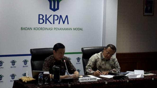 Kepala BKPM Thomas Lembong di kantornya.