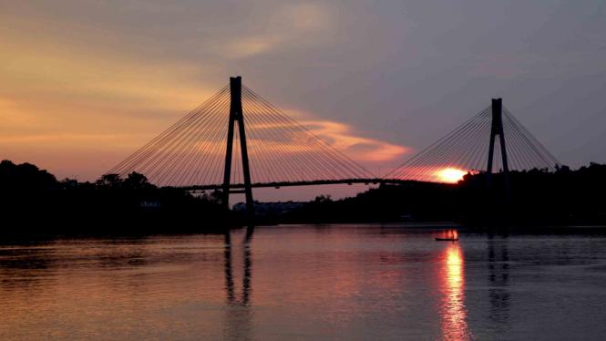Jembatan Barelang di kelurahan Tembesi, Kota Batam, Kepulauan Riau