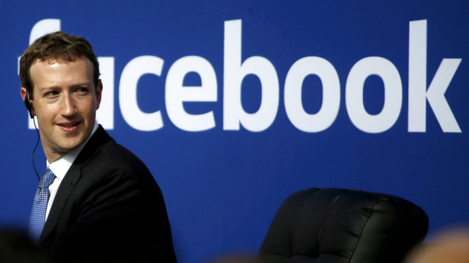 Kepala Eksekutif Facebook Mark Zuckerberg.