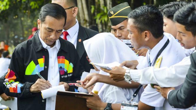 Jaket Asian Games 2018 Presiden Joko Widodo