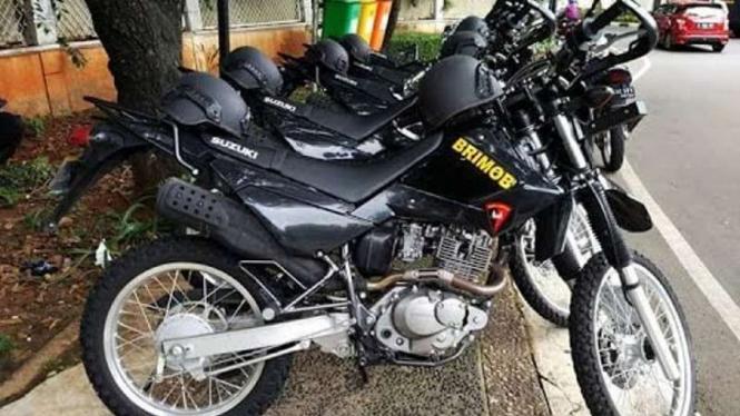 Motor trail Suzuki DR200 milik Kepolisian RI