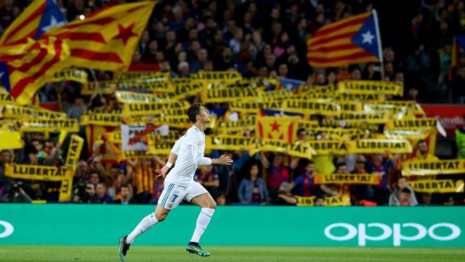 Pemain Real Madrid, Cristiano Ronaldo di laga melawan Barcelona