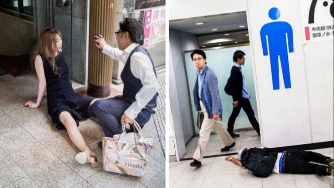 Orang Jepang mabuk.