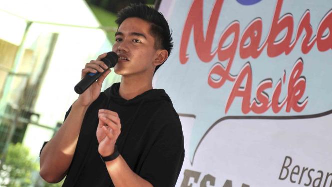 Putra bungsu Presiden Joko Widodo, Kaesang Pangarep.