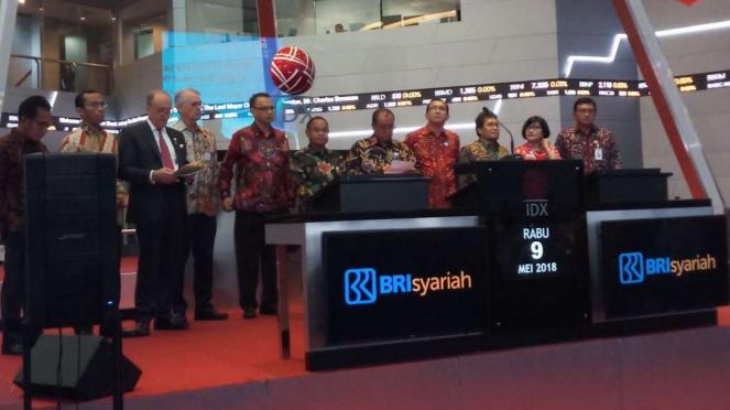 IPO BRISyariah di Bursa Efek Indonesia.