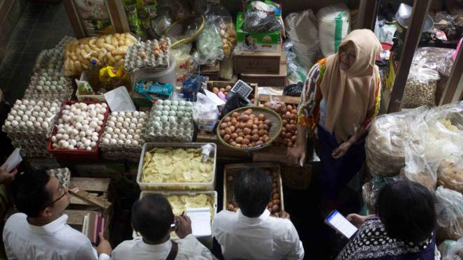 Pemantauan harga pangan di Pasar Beringharjo, DI Yogyakarta