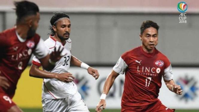 Duel Home United vs Persija Jakarta di Piala AFC.
