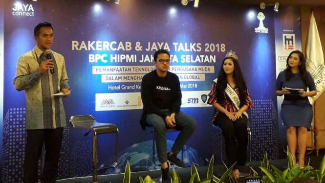 Anindya Bakrie di Rapat Kerja Cabang & Jaya Talks BPC Hipmi Jakarta Selatan.