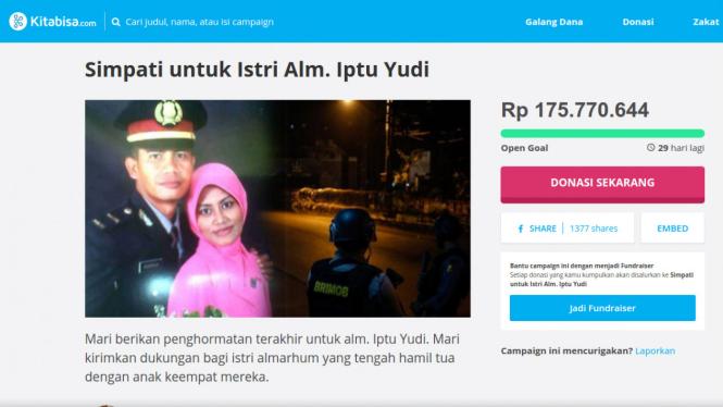 Donasi untuk istri korban Mako Brimob