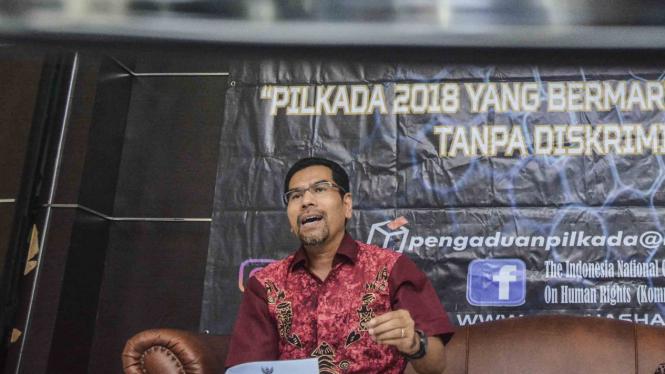 Komisioner Komnas HAM, Amiruddin.